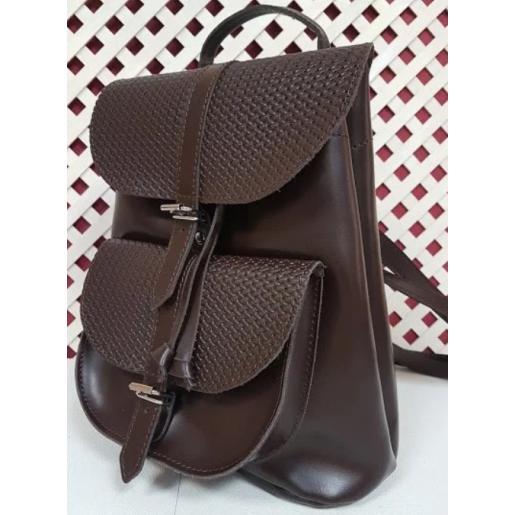 Женский кожаный рюкзак Bavarly 21A-30 коричневый