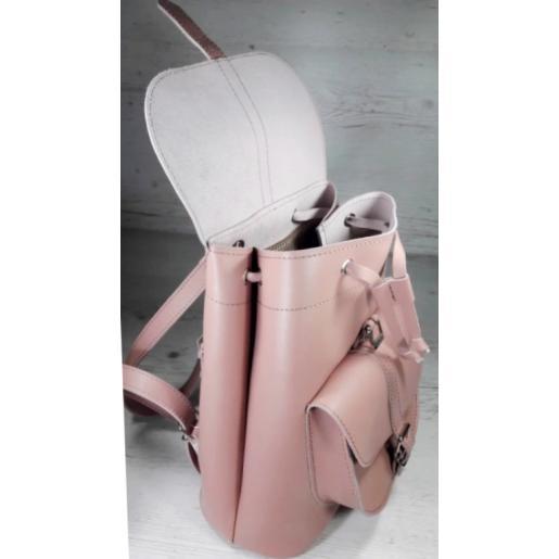 Женский кожаный рюкзак Bavarly 21A-20 розовый