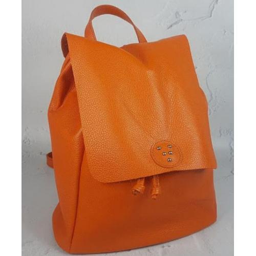 Женский кожаный рюкзак PAOLO 45ANR Оранжевый