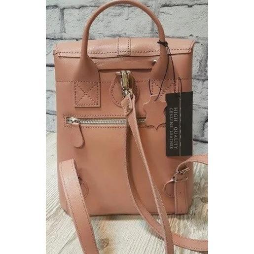 Кожаный женский рюкзак Bavarly 21A-37 розовый