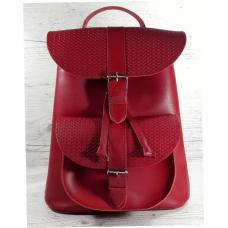Женский кожаный рюкзак Bavarly 21A-21 red