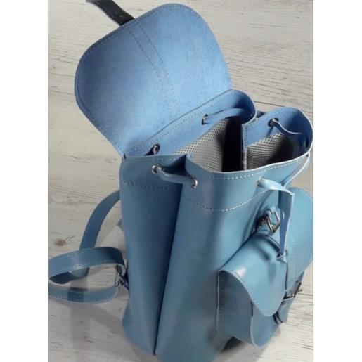 Кожаный женский рюкзак Bavarly 21A-7 синий