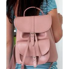 Кожаный женский рюкзак Bavarly 21A-37 pink