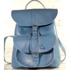 Кожаный женский рюкзак Bavarly 21A-7 Blue