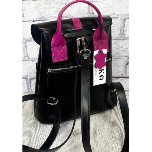 Кожаный женский рюкзак Bavarly 21A-31 черный