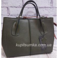 Женская сумка из натуральной кожи Зеленый