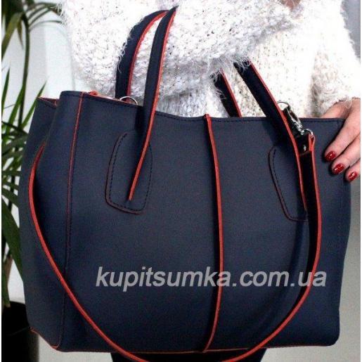 Женская сумка из натуральной кожи ETERNO EK26-A-10 Синий