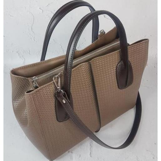 Женская кожаная сумка ETERNO EK26-A-10 Капучино