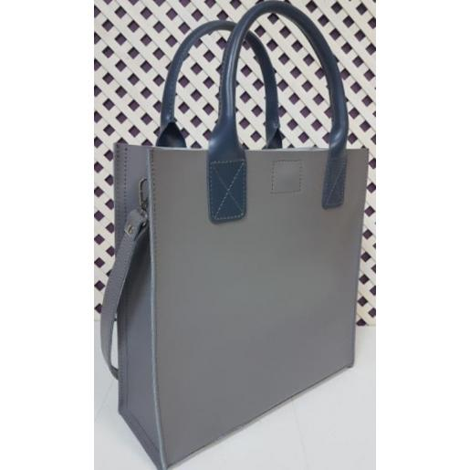 Женская кожаная сумка Shopper KE11A-3 grey