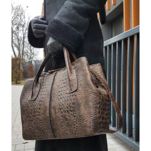 Женская кожаная сумка Marko EK-26-A Коричневый