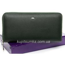Большой женский кошелёк из мягкой натуральной кожи Зеленый