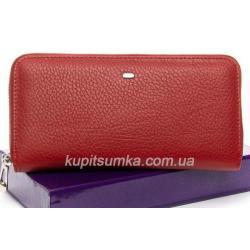 Женский красный кошелек из натуральной кожи 8П-56