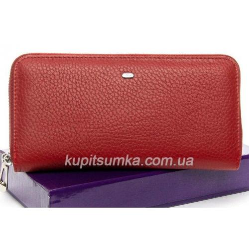 Большой женский кошелёк из мягкой натуральной кожи Красный