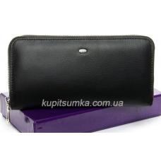 Большой женский кошелёк из мягкой натуральной кожи Черный