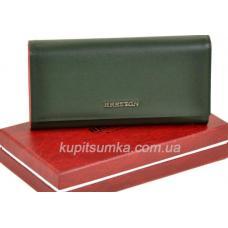 Кожаный женский кошелек 72PO-37 Зеленый