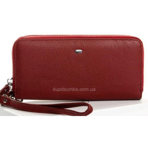 Вместительный кожаный кошелек для женщин на два отделения