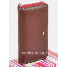 Женский кошелёк из мягкой текстурной кожи Цвета финик