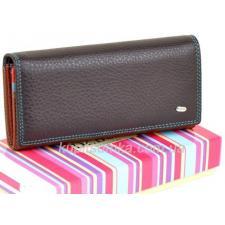 Женский кошелёк из натуральной мягкой кожи с монетницей внутри цвет фиолетовый