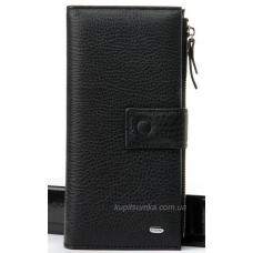 Кожаный кошелёк черного цвета