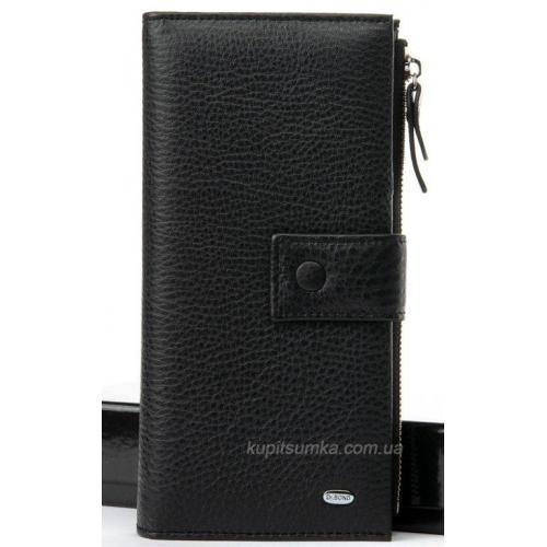 Кожаный кошелек черного цвета 789-1