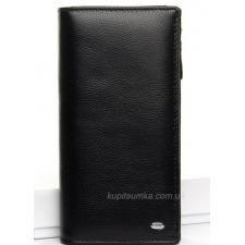 Женский черный кошелек из гладкой кожи 3MП-87