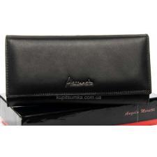 Женский черный кошелек из натуральной кожи OP501-2K-3