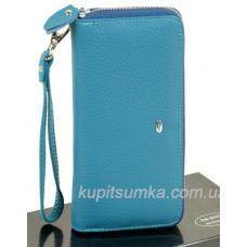 Женский кошелёк из натуральной кожи 38P Голубой