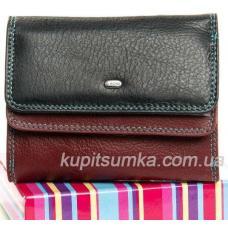 Стильный кошелёк из натуральной кожи чёрный
