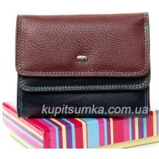 Стильный кошелёк из разноцветной натуральной кожи
