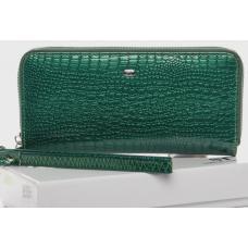 Кожаный женский кошелек Зеленый