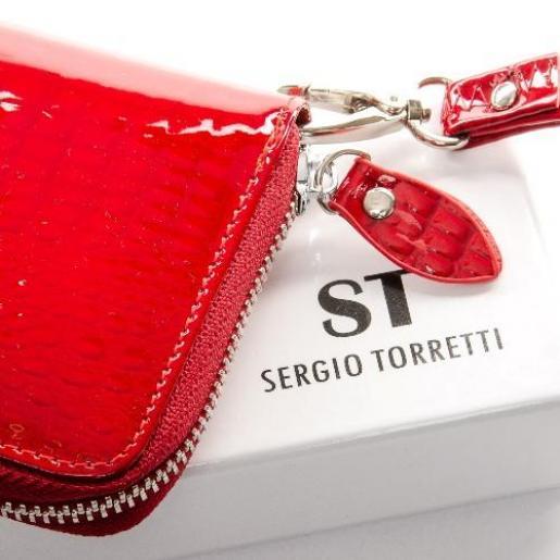 Женский кожаный кошелек Красный W38П
