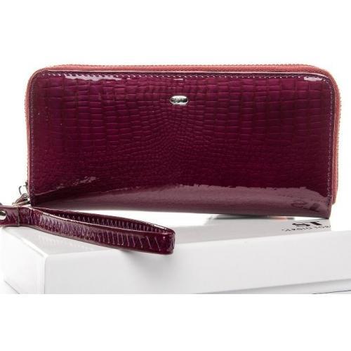 Лаковый кожаный кошелек Пурпурный