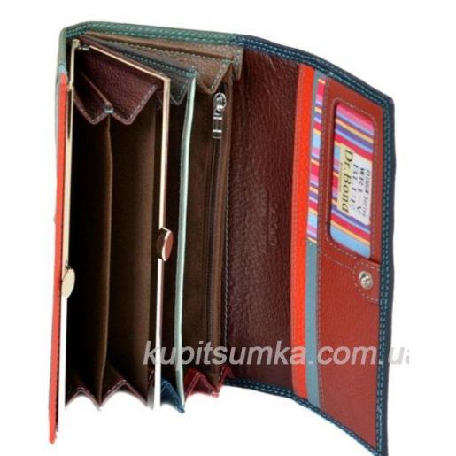 Женский кожаный кошелек синий WR1-VП-456