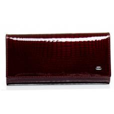 Женский кошелек из лаковой кожи бордовый OP501-2K-98