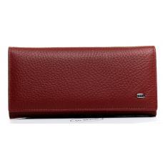 Женский кошелек кожаный красный OP501-2K-4