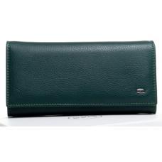 Кожаный кошелек из кожи зеленый OP501-2K