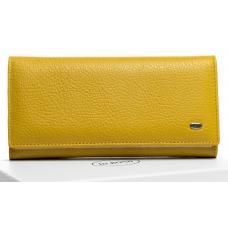 Женский кошелек кожаный желтый OP501-2K-98