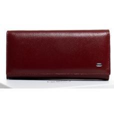 Женский кошелек кожаный бордовый OP501-2K-22