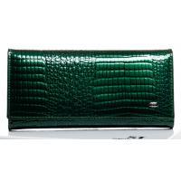 Женский зеленый кошелек из лаковой кожи OP501-2K-25