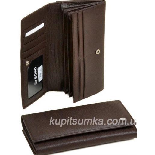 Классический кошелёк из натуральной кожи Кофейный