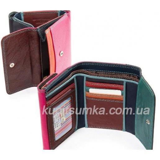 Стильный кошелёк из натуральной кожи фиолетовый