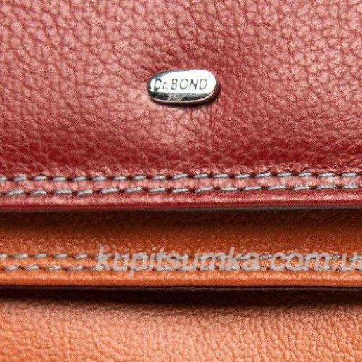 Стильный кошелёк из натуральной кожи красный