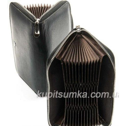 Женский кошелек из натуральной кожи Черный WS-8П-834