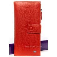 Женский кошелёк кожаный 123P Красный