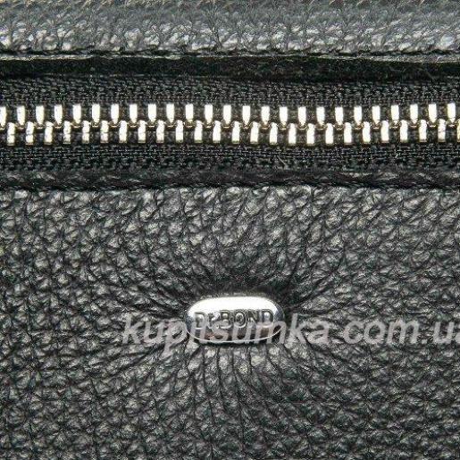 Кошелек женский кожаный с карманом Чёрный