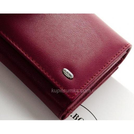 Женский современный кошелек из кожи цвета марсала