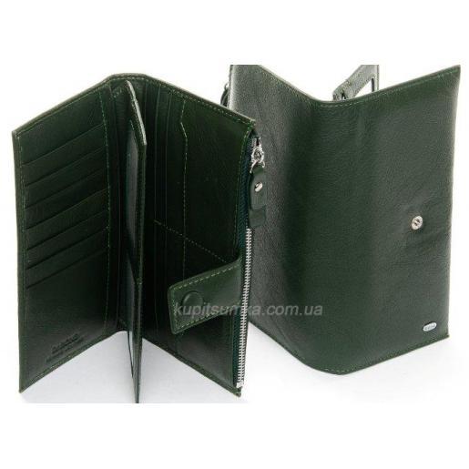 Женский кожаный кошелёк 114P Зеленый