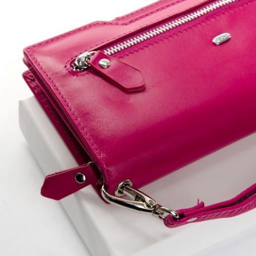 Женский кошелёк кожаный GGD-4 Розовый
