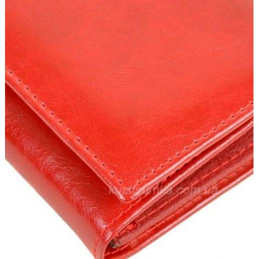 Кошелек из красной кожи W1П-8675