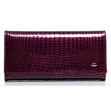 Женский кошелек из лаковой кожи сиреневый OP501-2K-78
